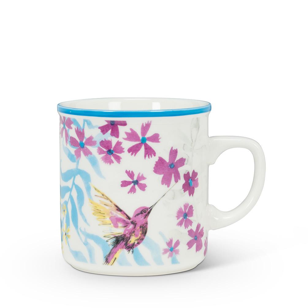 Hummingbird Rimmed Mug