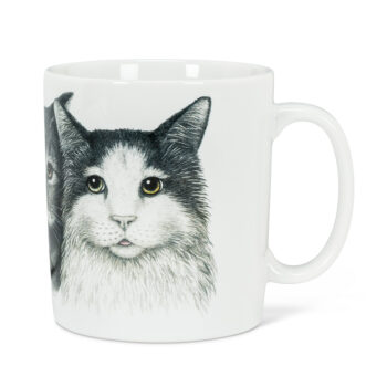 Hedgehog Family Cat Mug