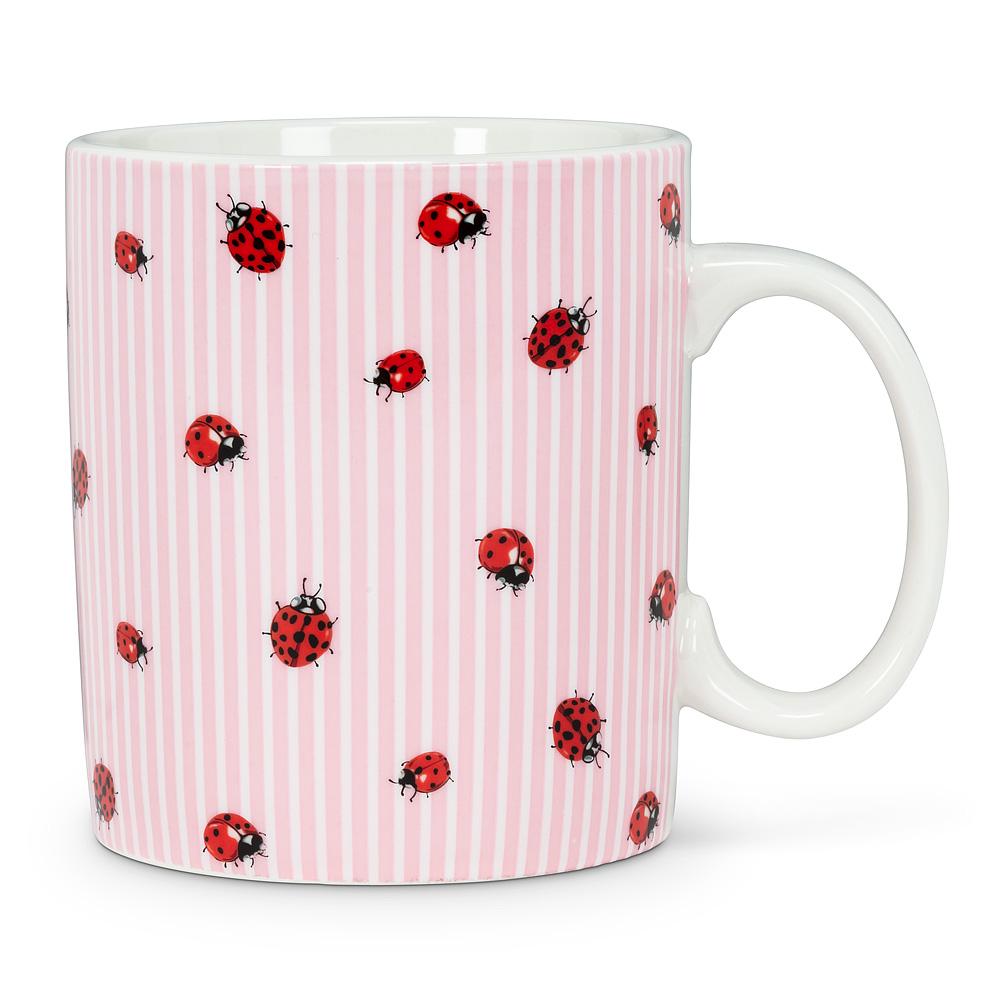Ladybug Stripe Jumbo Mug